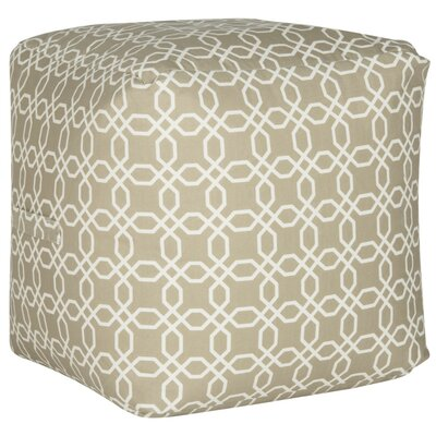 Brooklyn Cube Ottoman Color: Black/White