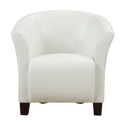 MiKell Barrel Chair Upholstery: White