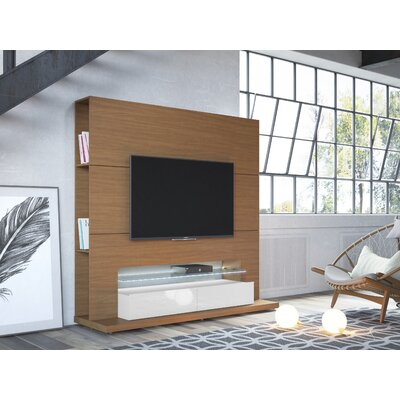 Holden Entertainment Center Color: Off-White/ Maple Cream