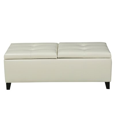 Jefferson Leather Storage Ottoman Upholstery: Ivory