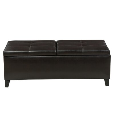 Jefferson Leather Storage Ottoman Upholstery: Brown