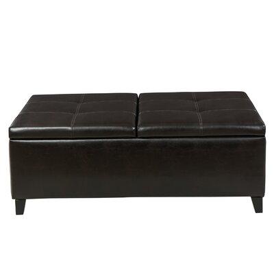 Mengel Storage Ottoman Upholstery: Brown