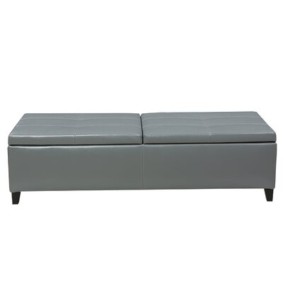 Jefferson Leather Storage Ottoman Upholstery: Gray