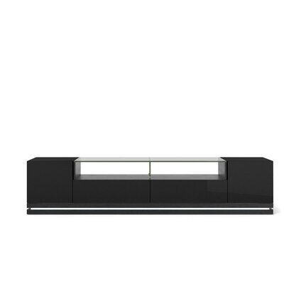Lasker TV Stand Finish: Black Gloss / Black Matte