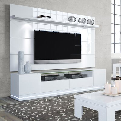 Lasker 85.5 TV Stand Color: White Gloss