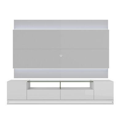 Lasker 85 TV Stand Color: White Gloss