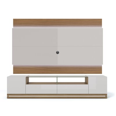 Lasker 85 TV Stand Color: Nature / Off White