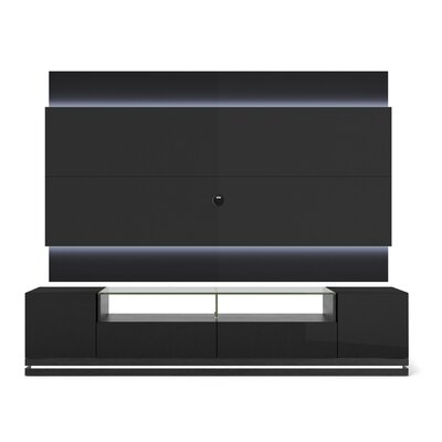 Lasker 85 TV Stand Color: Black Gloss / Black Matte