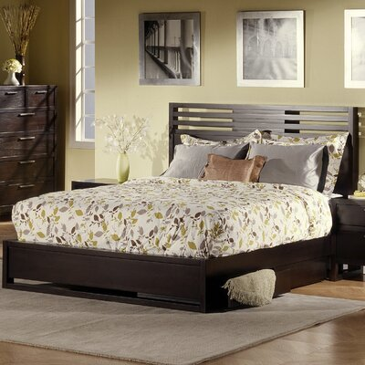 Milton Storage Platform Bed Size: King, Color: Noir
