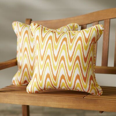 Augusta Indoor/Outdoor Throw Pillow Size: 18 H x 18 W