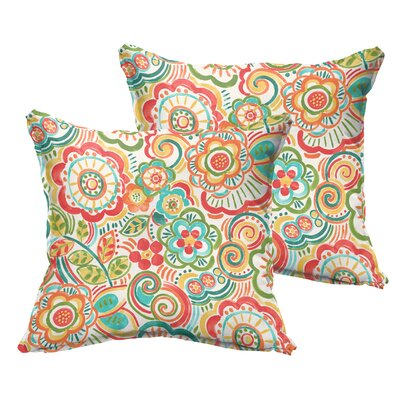 Annette Indoor/Outdoor Throw Pillow Size: 22 x 22