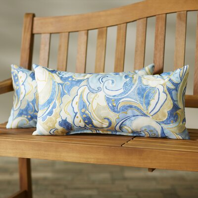 Betty Indoor/Outdoor Lumbar Pillow Size: 12x24