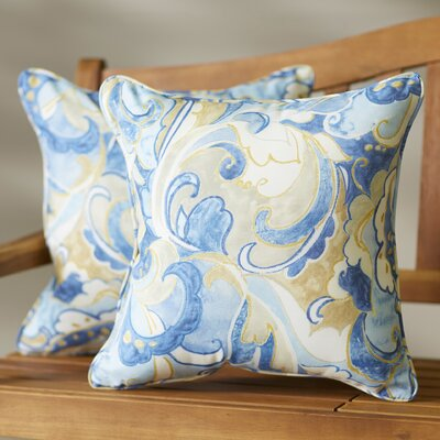 Betty Indoor/Outdoor Throw Pillow Size: 18 H x 18 W