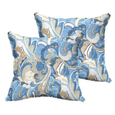 Betty Flange Indoor/Outdoor Throw Pillow Size: 22 x 22