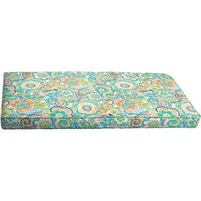 Beatrice Corded Outdoor Bench Cushion Size: 60 x 19