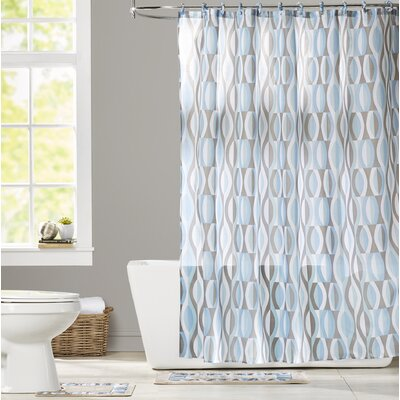 Buxton Boutique Shower Curtain Set Color: Blue