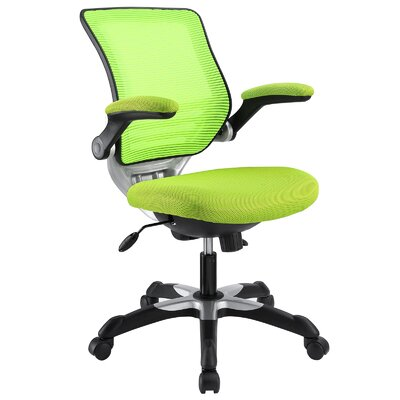 Bonnie Mesh Desk Chair Frame Finish: Black, Upholstery Color: Lime
