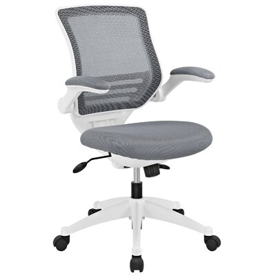 Bonnie Mesh Desk Chair Upholstery Color: Gray, Frame Finish: White
