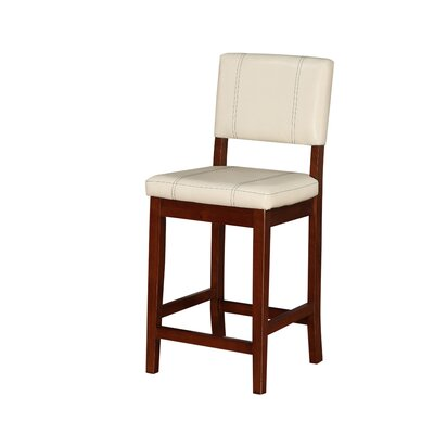 Phillip 24 Bar Stool Upholstery: Cream