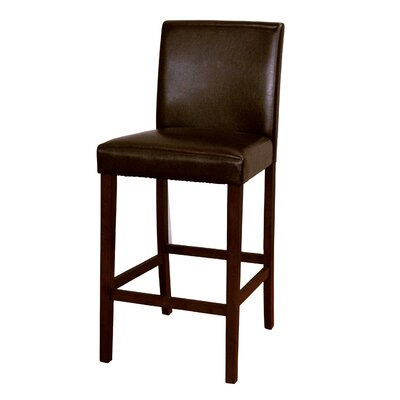 Woolery 30 Bar Stool (Set of 2) Upholstery: Brown