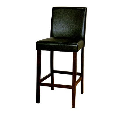 Woolery 30 Bar Stool (Set of 2) Upholstery: Black