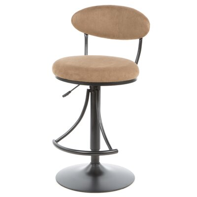 Elon Adjustable Height Swivel Bar Stool Upholstery: Bear