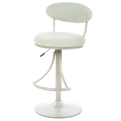 Elon Adjustable Height Swivel Bar Stool Upholstery: Atmosphere