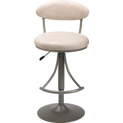 Elon Adjustable Height Swivel Bar Stool Upholstery: Fawn