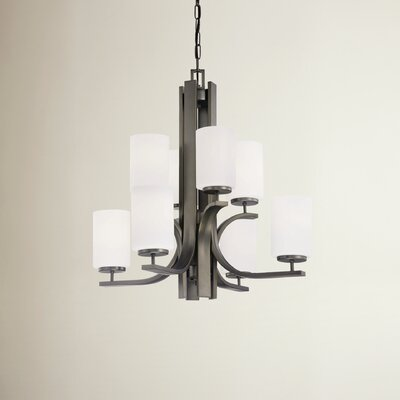 Lake Park 8-Light Shaded Chandelier Finish: Oiled Bronze