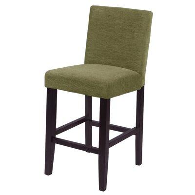 Oliver 26 Bar Stool Upholstery: Moss Green