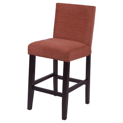 Oliver 26 Bar Stool Upholstery: Burnt Orange