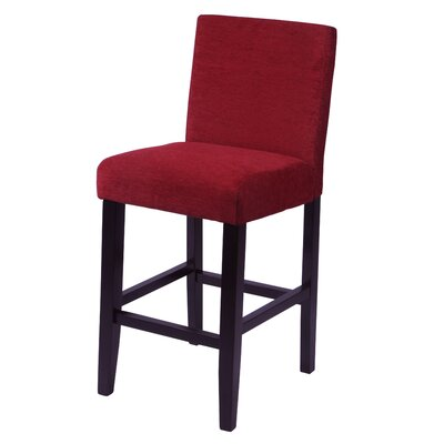 Oliver 26 Bar Stool Upholstery: Dark Red