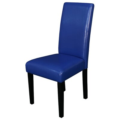 Aubrey Parsons Chair Upholstery: Blue, Finish: Espresso