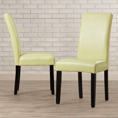 Aubrey Parsons Chair Upholstery: Light Green, Finish: Brown