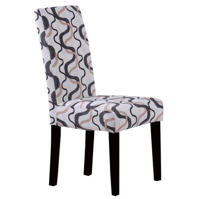 Swarthout Parsons Chair Upholstery: Black