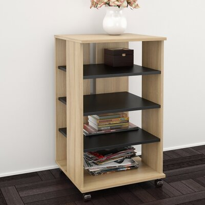 Brittany Mobile Storage Audio Rack Color: Biscotti / Black