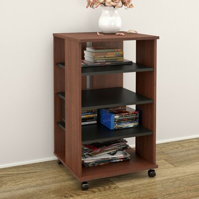 Brittany Mobile Storage Audio Rack Finish: Moka / Black