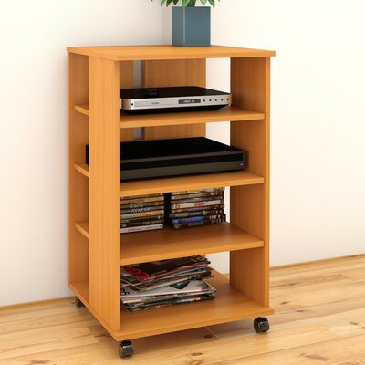 Brittany Mobile Storage Audio Rack Color: American Beech