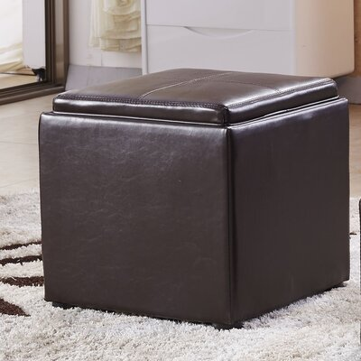 Caddy Storage Ottoman Upholstery: Espresso