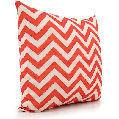 Lily Throw Pillow Color: Cream/Orange
