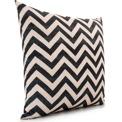 Lily Throw Pillow Color: Black/Cream/Gray