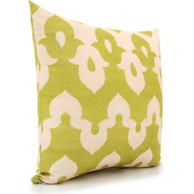 Throw Pillow Color: Green/Peach