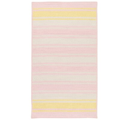 Caitlin Hand-Woven Pink Area Rug Rug Size: 3 x 5