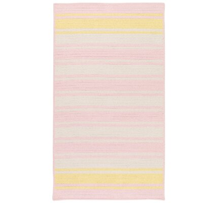 Caitlin Hand-Woven Pink Area Rug Rug Size: 5 x 7