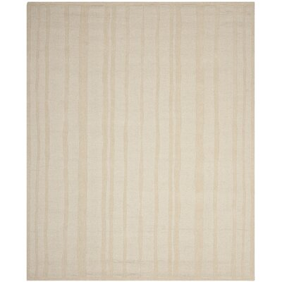 Freehand Stripe Hand-Loomed Mossy Rock Area Rug Rug Size: Rectangle 9 x 12