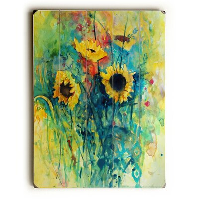 Watercolor Sunflowers Painting Print