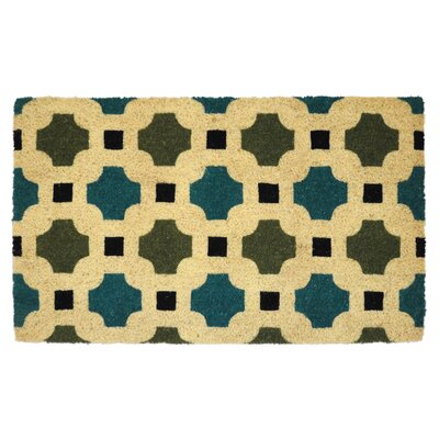 Maggie Coir Doormat Color: Blue
