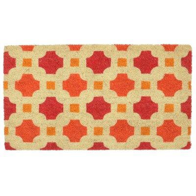 Maggie Coir Doormat Color: Red