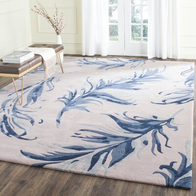 Genesee Beige/Blue Area Rug Rug Size: Rectangle 4 x 6