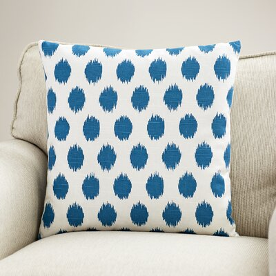 Blake Cotton Throw Pillow Color: Aquarius, Size: 20 H x 20 W
